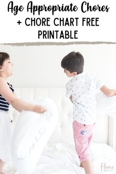 Put together a simple chore system with this free chore chart printable. Assign chores by the ultimate list of age appropriate chores in this post. Ages included from 2 all the way to teens. Perfect for all families! via @homebyjenn Routine Printable, Printable Chore Chart, Free Printables, Chore System, Mom Planner, Age Appropriate Chores, Home Management Binder, Organized Mom, Cleaning Routines