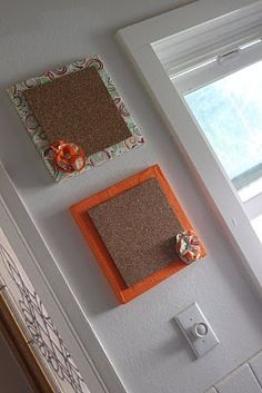 Covered Canvas Bulletin Boards - Delicate Construction