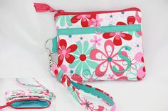 Personalized Wristlet coin purse with ID/ by GisellasDesigns, $29.95