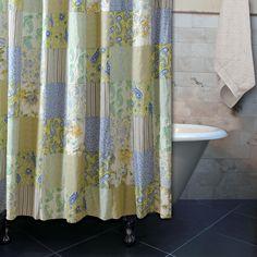 Greenland Home Vintage Jade Bath Shower Curtain
