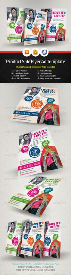 Product Sale Flyer Ad Template - Corporate Flyers