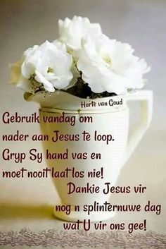 Good Morning Wishes, Day Wishes, Lekker Dag, Evening Greetings, Afrikaanse Quotes, Goeie Nag, Goeie More, Inspirational Qoutes, Good Night Quotes