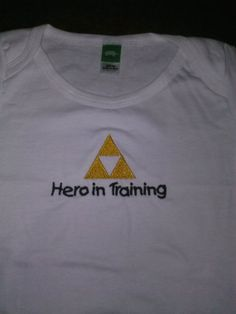 Legend of Zelda Inspired Triforce baby onesie Hero in Training or Princess in Training on Etsy, $12.00