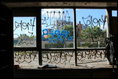 Window. Empty offices. Jess Turver photography