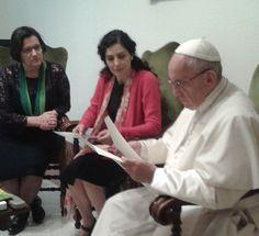 Papa Francisco recebe Letícia Sabatella, que denuncia'golpe' no Brasil