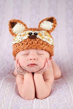 Woodland Fox Crochet hat   by Bit 0 Whimsy
