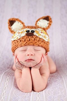 Woodland Fox Crochet hat   by Bit 0 Whimsy
