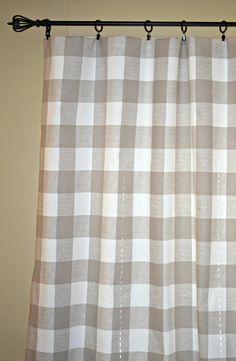 Available In Gray Or Natural Our Buffalo Check Drapery