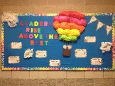 Leader in Me Bulletin Boards in Elementary Schools Leadership Bulletin Boards, Counseling Bulletin Boards, Classroom Bulletin Boards, Classroom Themes, Dorm Themes, Space Classroom, Spring Bulletin Boards, Preschool Bulletin, Classroom Quotes