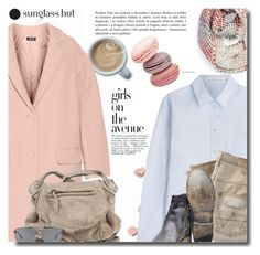"""""""with Sunglass Hut"""" by bynoor ❤ liked on Polyvore featuring Avenue, Michael Stars, DKNY, dVb Victoria Beckham, Wrangler, Bed Stu, Jérôme Dreyfuss and Emporio Armani"""