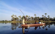 Taking a Mekoro through the Okavango Delta, Botswana
