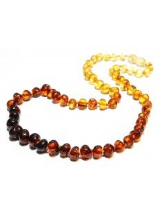 Discover the benefits of amber jewelry; Baltic amber beads necklace
