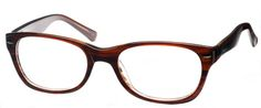 Warhol Eyeglasses. A Beautiful Dark Brown Marble Wayfarer-style Frame  $49.00