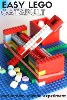 How to build an easy catapult for kids and learn about tension. Build a simple LEGO catapult with basic bricks. Fun STEM activity for kindergarten and grade school kids. by geneva