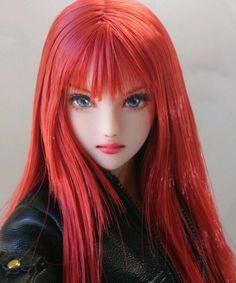 * Hana * custom doll head Obitsu * One of a Kind * Anime Dolls, Bjd Dolls, Barbie Dolls, Doll Head, Doll Face, Pretty Dolls, Beautiful Dolls, Enchanted Doll, Gothic Dolls