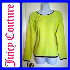 Juicy Couture Neon Sweater In perfect condition! New with tags! Size XL but could fit Large as well. See 4th picture for accurate color and style. ?? Juicy Couture Sweaters