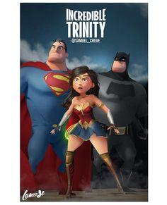 Batman v Superman: origins of justice Dc Comics Heroes, Dc Comics Art, Marvel Dc Comics, Andre Luis, Dc Trinity, Hq Dc, Batman Wonder Woman, Univers Dc, Mundo Comic