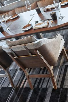 love the details, textured upholstery, wood, metal, leather but not busy Single Thread | AvroKo | A Design and Concept Firm