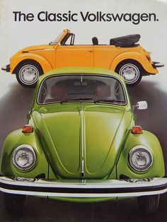 Volkswagen classic USA brochure covers all the information on car's engine. The book is available for sale at Motor Book World in used condition. Vw Bus, Volkswagen Group, Vw Camper, Vw Cabrio, Kdf Wagen, Vw Vintage, Vintage Theme, Beetle Car, Cute Cars