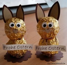 722 kleine Osterhasen The most historic Easter time gift items, as far as my personal Easter Gift, Easter Crafts, Happy Easter, Easter Bunny, Easter Eggs, Crafts To Sell, Diy And Crafts, Crafts For Kids, Recycled Crafts