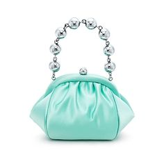 Bracelet bag in Tiffany Blue® satin. More colors available. $795 Tiffany & Co.