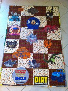 Child's T-Shirt Quilt...with a twist by psquared52 from the quiltingboard.com