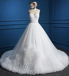 Cheap a line wedding dress, Buy Quality wedding dress directly from China wedding dress 2017 Suppliers: Luxury Long A Line Wedding Dresses 2017 Strapless Tulle Robe De Mariage Bridal Party Gowns Fairytale Princess Dress Wedding Dress Train, Bridal Wedding Dresses, White Wedding Dresses, Cheap Wedding Dress, Tulle Ball Gown, Ball Gowns, Ruffles, Photos, Pictures