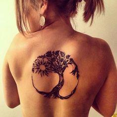tree of life tattoo on back