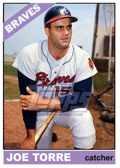 Baseball cards picturing all qualifying Atlanta Braves rostered players for 1966