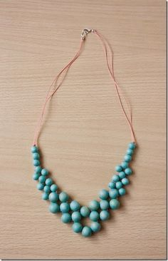 Get ready for summer with this beaded necklace, using colourful wood and thread. We have been having some very lovely early spring weather here in the UK, which has made me want to make some bright, summery jewellery! I came