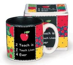 2 Teach is 2 Touch Lives Teachers Coffee Mug Inexpensive Gift Item 617000 NEW Best Teacher Gifts, Teacher Christmas Gifts, Teacher Appreciation Gifts, Best Gifts, Teacher Stuff, Valentine Day Gifts, Cheap Gifts, Inexpensive Gift, Teacher Christmas Ideas