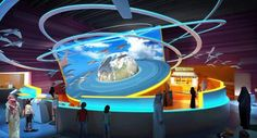 """Preview of Exhibition Gallery """"Earth"""".   Rendering: Triad Berlin    #InteractiveExhibits #ScienceCenters"""
