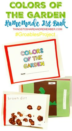 Colors of the Garden Homemade Art Book #GroablesProject