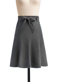 Pinstripes Skirt for work