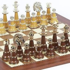 Sorrento Chessmen From Italy & Astor Place Chess Board From Spain