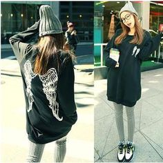Buy 'Love Seoul – Wing Print Long Pullover' with Free International Shipping at YesStyle.com. Browse and shop for thousands of Asian fashion items from China and more!
