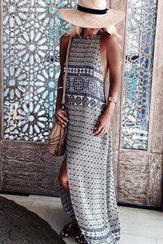 Isla Split Dress | Saffron