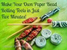 Make your own paper bead roller
