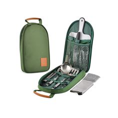 27+ Piece Camping Kitchen Utensil Kit - For Camping, Hiking, Travel, Picnics, RV's, BBQ's, and Outdoor Living