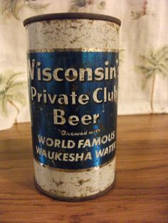 Waukesha <3 Spring City Wisconsin's Private Club Beer Can by PrimePickins, $6.00
