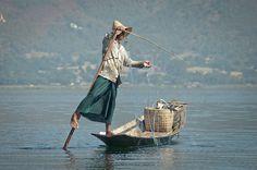 The balance of the fisherman - Shan State, Myanmar (Burma)