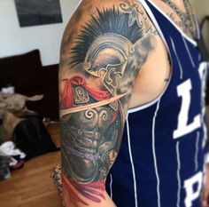 Spartan warrior tattoo