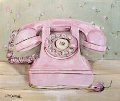 shabby chic pink telephone  ~ Gail Mccormack