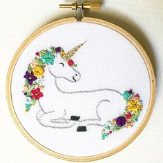 Unicorn hoop art