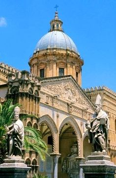 Cathedral of Palermo, Palermo, Sicily #palermo We climbed up a winding staircase to the rooftop - exhausting but the view over the city is fantastic.