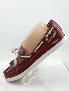 192f0e26dfc Cole Haan boat shoes size 9 B Red Patent Leather Casual Loafer slip on shoes