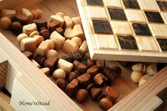 Chess Set Hand Turned Wooden Pieces Rustic Burned Board King .