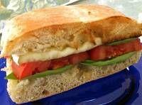 Tomato Basil Brie Sandwich
