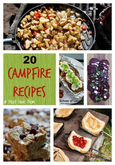 20 Campfire Recipes Perfect For Summer Campouts! These camping recipes are perfect for outdoor camping or tent camping. Recipes for over the fire cooking! Camping Glamping, Camping Meals, Family Camping, Camping Jokes, Camping Dishes, Scout Camping, Camping Cooking, Camping Guide, Camping Trailers