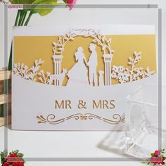 Cheap cards for wedding, Buy Quality card card directly from China card invitation Suppliers: 30pcs Mr & Mrs Invitation Card for Wedding Event Supplies Laser Cut Wedding Invitation with Single layer inside page 5zSH070